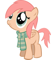 Filly Flye with Scarf  (OC by RedLightning Pony) by Cwossie