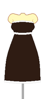 Strapless brown dress by acer1321300