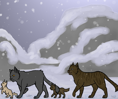 A Winter Walk in the Tribe by Warriors-horse
