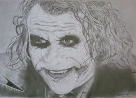 Heath Ledger as the Joker by Gough83