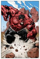 Red Hulk Variant by statman71