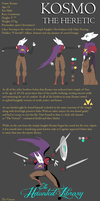 Haunted Library OCT Character Sheet: Kosmo by Alkogolik