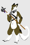Sergal Warrior by MaizeyMonster