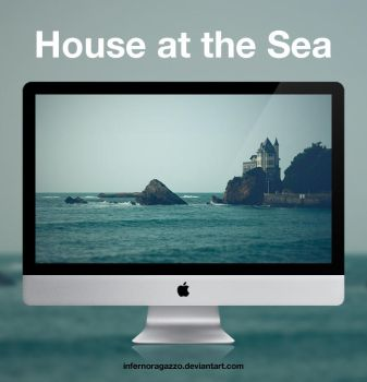 House at the Sea 'La Villa Belza' HD Wallpaper by infernoragazzo