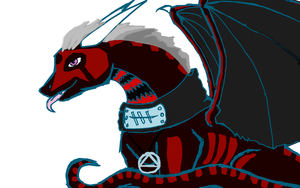 2nd part of Hidan as a dragon by NightStarWolf7