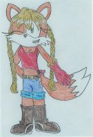 Melissa the fox colored by fansonic15