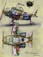 wrecked plane plans by Mmystery