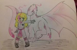 Lillie and her dragon by Poppet-Seed