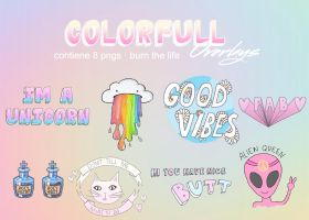 colorfull overlays | pngs archive by Burn-the-life