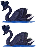 2014-Celestial Swan (contest entry) by Moonlightelf