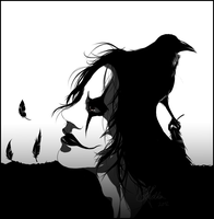 Quickie - The Crow by InvisibleRainArt