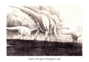 Sketchook - sauropods by cbocquee