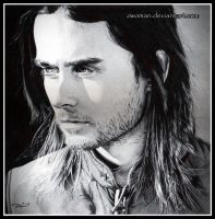 Lost in a Daydream (Jared Leto in biro) by zwoman