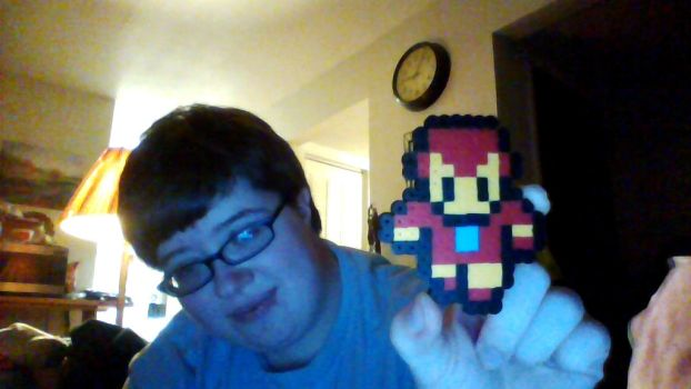 Ironman Made Out Of Perler Beads by HerHeart107