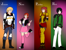 Team JNPR, Siege of Mistral by Soundwave3591