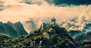 Mountain Castle by Frostwindz