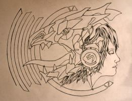 Lost In the Roar (uncolored) by greenskull139