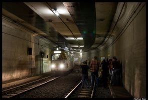 Photo-stop in the tunnel by TramwayPhotography
