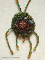 Green Leaf Goddess Necklace by Lost-in-the-day