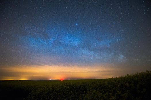 Rising Milky Way in Normandy by Jean-Baptiste-Faure