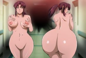 Black Lagoon Revy ass nude Ecchi Mr123GOKU123 by Mr123GOKU123