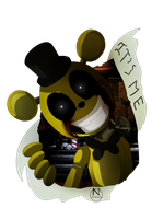 Golden Freddy (Sonic Style) by N-SteiSha25