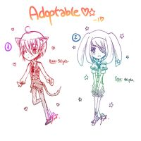 CLOSED - ADOPTABLE 03 - Shota animals? by LuvPancake