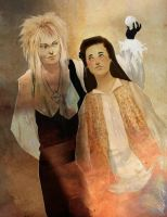 Jareth and Sarah by exedor3