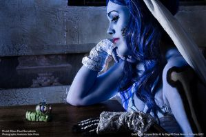 Emily. The Corpse Bride and maggot by Nanatanebramorte