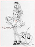 Pumpkin time SKETCH by Katerina-Art
