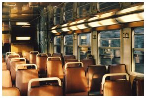 untitled - alone on a train by brokenviolinshop