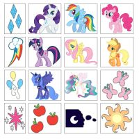 My Little Pony Friendship is Magic Stickers by moonprincessluna