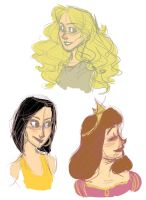 OC Girls - quick sketches by SerifeB