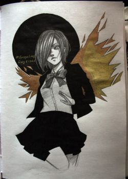 tokyo ghoul touka day 8 by RickValentine