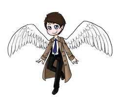 !Chibi Castiel! by melancholy-fox