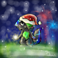 Commish: Merry New Year by Kitzophrenic