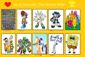 Top 10 Characters that I think Deserve Better by SuperMarioMaster170
