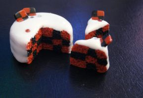 Checkered Cake by SeaOfCreations