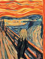 The Scream- in vector by Lost-of-Existence