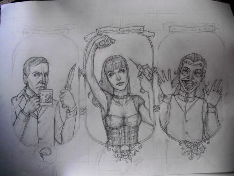 Repo! The Genetic Opera poster WIP by happy-smiley-robot