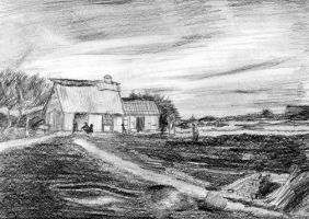 farm house master drawing by tequilla56