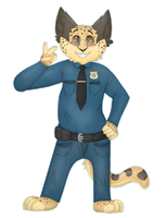 Benjamin Clawhauser by ozcrystal