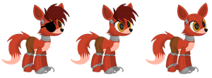 Foxy as a pony by annethyst