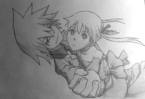 Soul and Maka by SonicHakeem