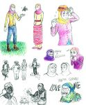 Humanized Pony Sketches, Mostly Fluttershy by CatDemon152