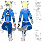 Colored Ref - Loup-Garou by Kit-The-Wolfy