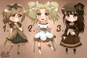 -Chocolate Adoptables- CLOSED- by Rebecka-chan