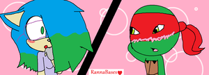 Me And Raph by KelseytheHedgecat