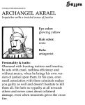 Sazzon: Archangel Akrael by Project-Sazzon