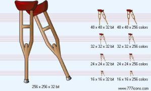 Crutches Icon by medical-icon-set